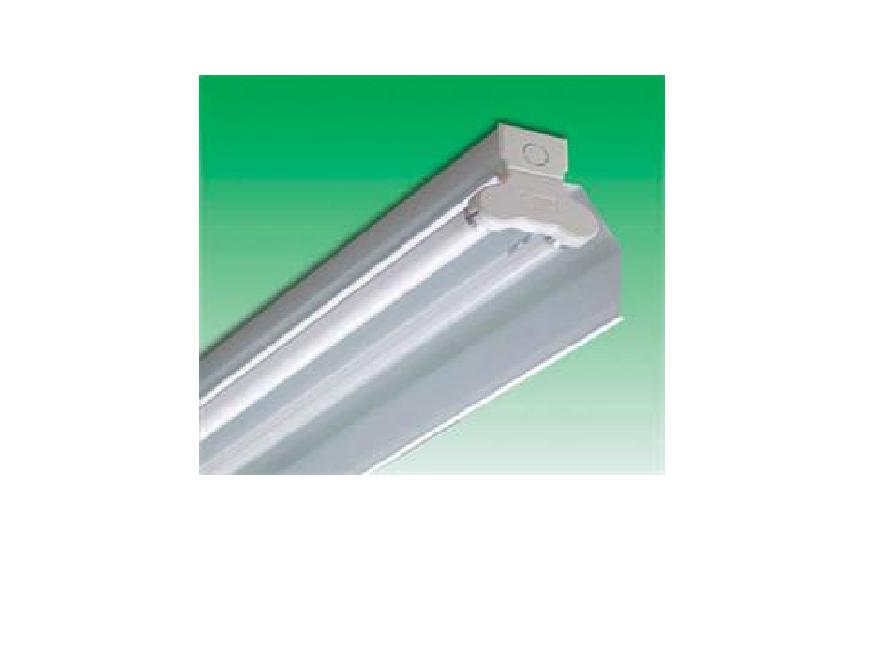 Bộ đèn huỳnh quang có phản quang 1 phía dạng vát dùng gắn tường