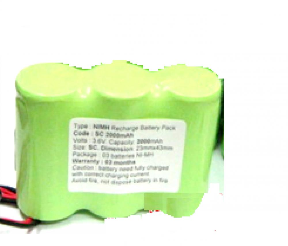 Pin đèn khẩn cấp, Pin đèn chiếu sáng 3,6V- NIMH/NICD SC2000mAh