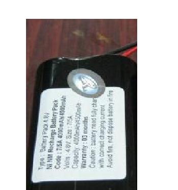 Pin đèn Exit, Pin đèn thoát hiểm, Pin đèn chiếu sáng 4,8V - 7/5A-4000mAh
